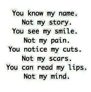 You think you know me. You don't...
