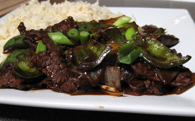 Beef and Green Peppers in Black Bean Sauce | A Glug of Oil
