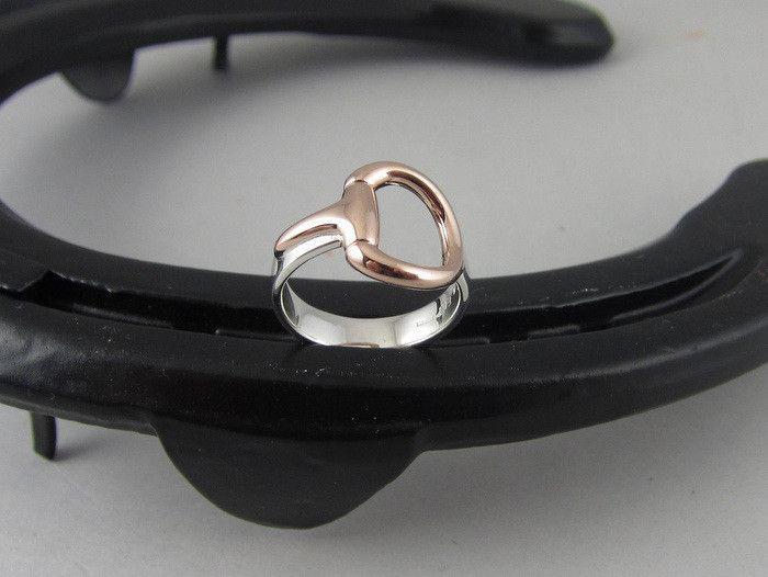 ER37a - Medium Two Tone Half Snaffle Bit Ring