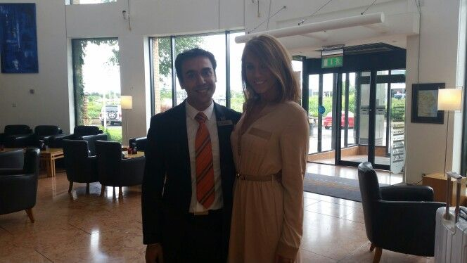 Our food  beverage supervisor Jose with Vicky from Geordie Shore