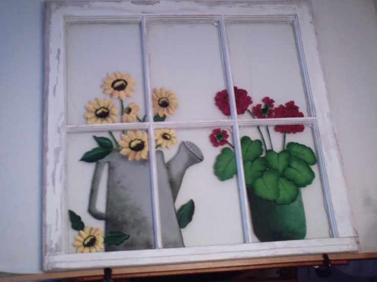 painting on old windows | Painted Old Window and Mail Box - Decorative & Tole Painting Forum ...