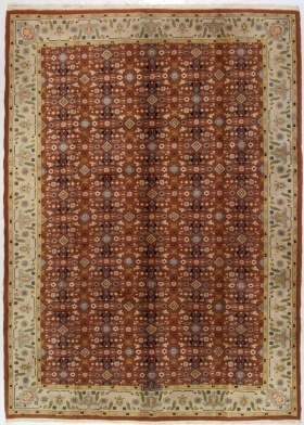 315X225 Cm Tappeti Indiani Rossi Disegni Classici - Tappeti Grandi - Galleria Farah1970 Vendita Online tappeti persiani moderni e tappeti per bambini.