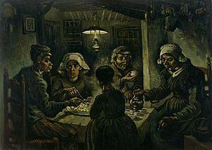 Vincent Van Gogh; I mangiatori di patate; 1885; olio su tela; Van Gogh Museum, Amsterdam.