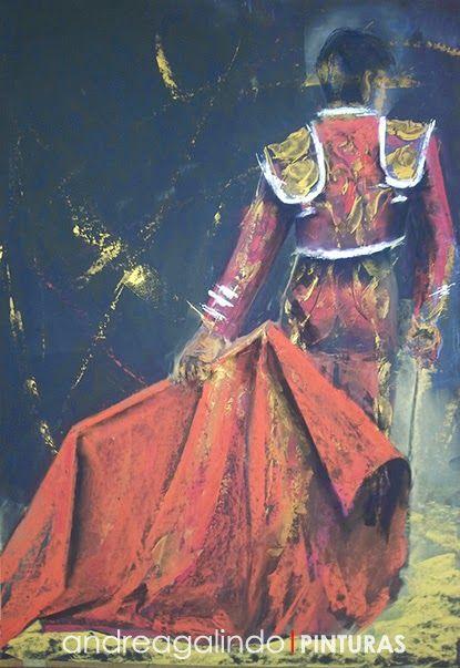 Andrea Galindo. Pintura: TOREROS (III) PASTEL
