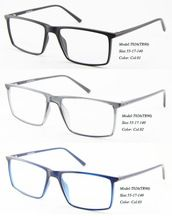 Ojo wonder venta al por mayor Men Rectangular marcos ópticos Eyewear Demi gafas azules T026