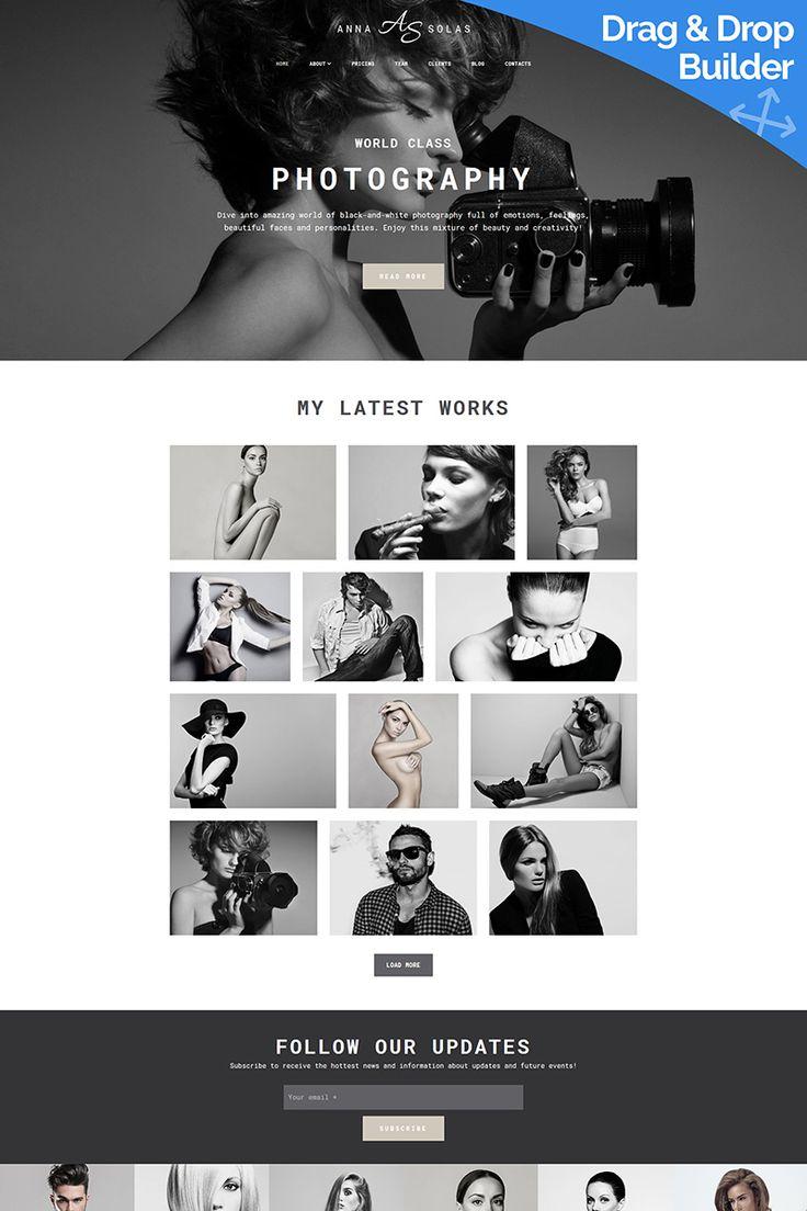 Anna Solas - Photographers Portfolio Photo Gallery Moto CMS 3 Template #66362