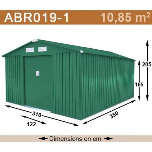 Abri De Jardin Metal Vert 10 85 M2 Rangement Garage Abri De Jardin Abri