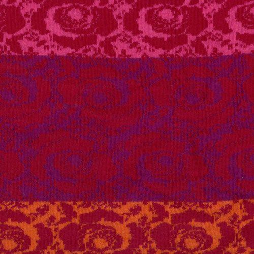 Bw-Jacquard Farbablauf Rose rot