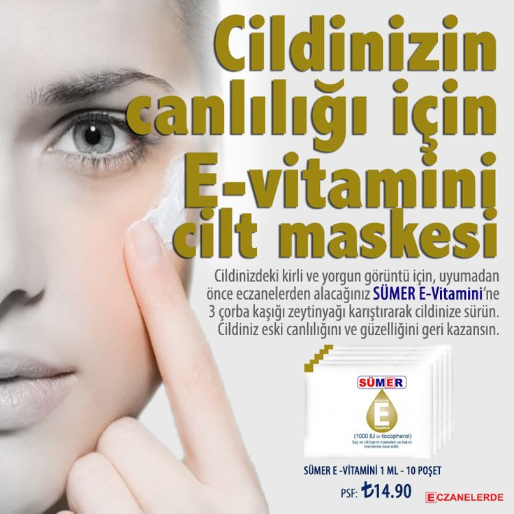 Cildinizin canlılığı için E-vitamini cilt maskesi...
