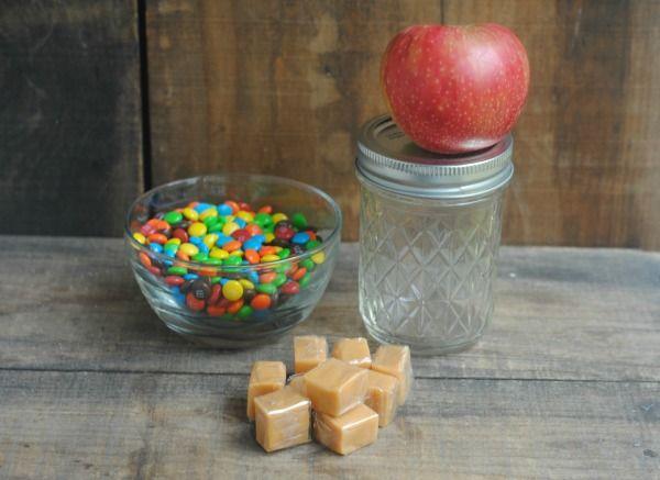 Rainbow Caramel Apple Mason Jar Gift