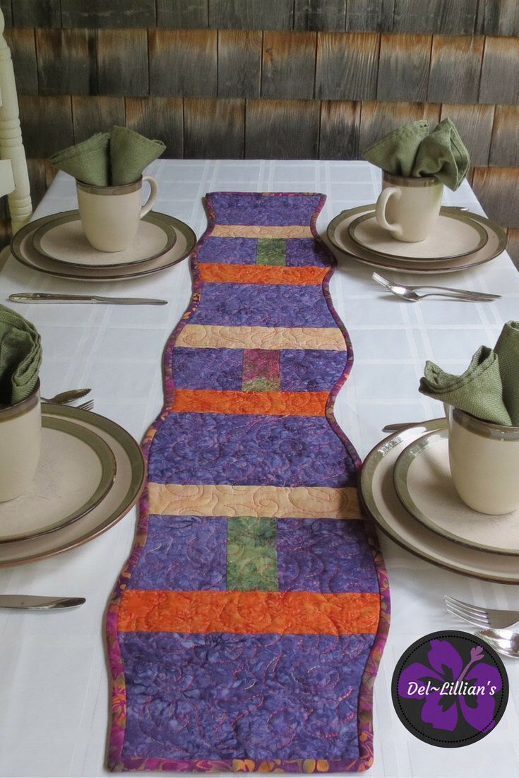 A personal favorite from my Etsy shop https://www.etsy.com/listing/461901488/modern-table-runner-contemporary-table