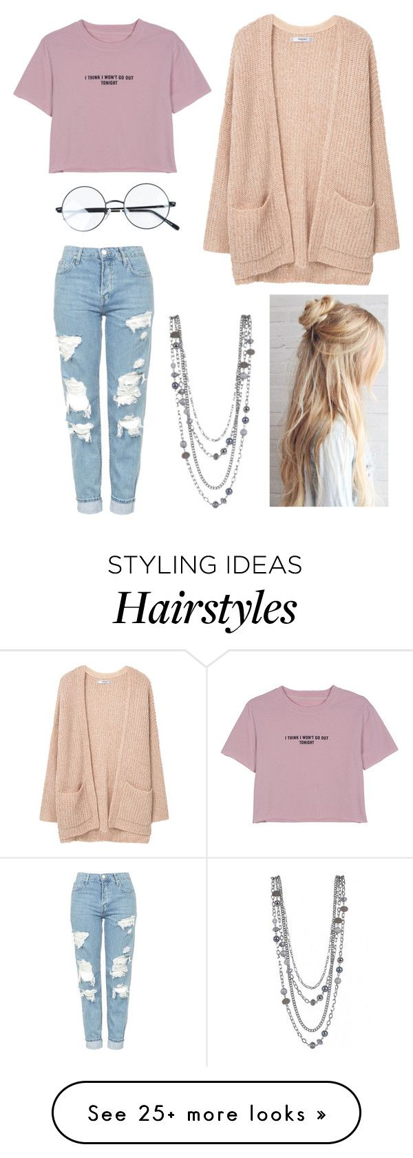 """""""Oversize"""" by secret-girl02 on Polyvore featuring WithChic, MANGO, Topshop and glassesharrypotterlove"""