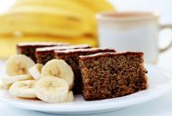 Moist and delicious banana cake