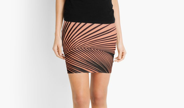 Palm Leaf Mini Skirt by Eric Nagel  - Repeated print front and back - Stretch waistband - Made with 88% Polyester, 12% Elastane - Play nice with your skirt and cool wash only  #Fashion #styling #clothes #shopping  #summer #MiniSkirt #girl #outfits  #casual #couture #wear
