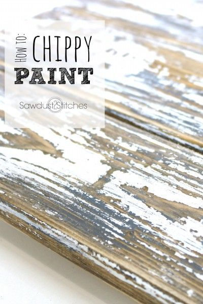 There are lots of tutorials for chippy paint techniques, but this is one of the easiest. This shows to do a layered paint effect perfect for DIY furniture and more.