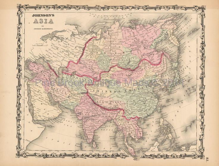Pine Brook Antique Maps - Asia Antique Map Johnson 1861, $99.99 (http://www.pinebrookmaps.com/asian-continent-antique-map-johnson-1861-1861johnson2-024/)