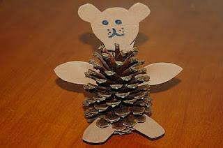 Teddy Bear Pine Cone Craft