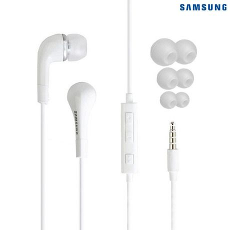 2-Pack: Samsung In-Ear Headphones with In-line Mic - White at 83% Savings off Retail!