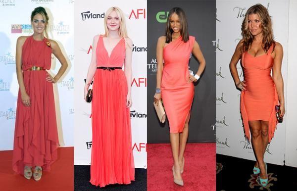 Qué Zapatos Me Pongo Con Un Vestido Color Coral Vestidos Color Coral Vestido Coral Vestidos Color Salmon