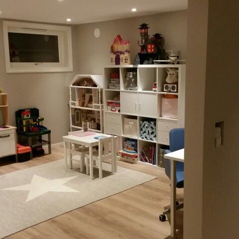 Our kid's playroom in the basement