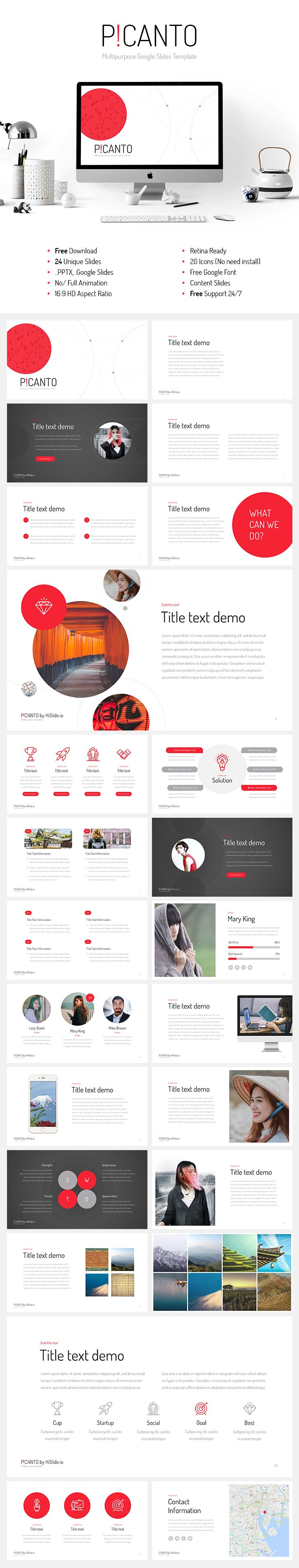 Picanto-Google-Slides-template-free-download