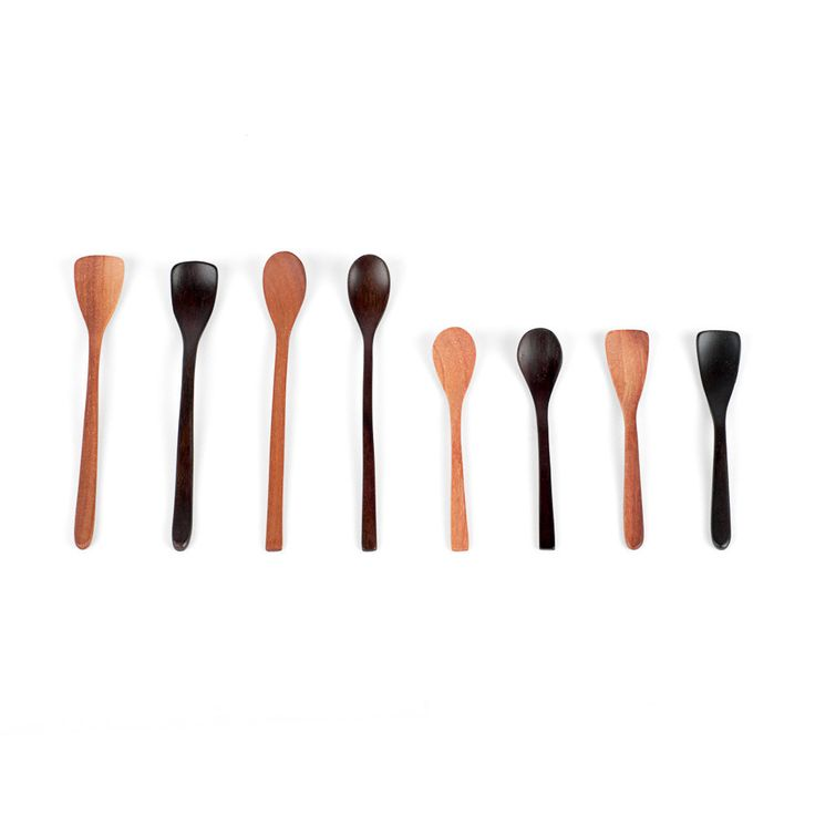 Spice Spoon – Sands Made. The Spice Spoon is the smallest spoon in our range. Its delicate form and compact size make it perfect for scooping your favourite spices or additives. These spoons fit in most spice jars and are available in two sizes to ensure they fit any small container neatly. Each of the two tip profiles offer a slightly different scooping action and body shape.