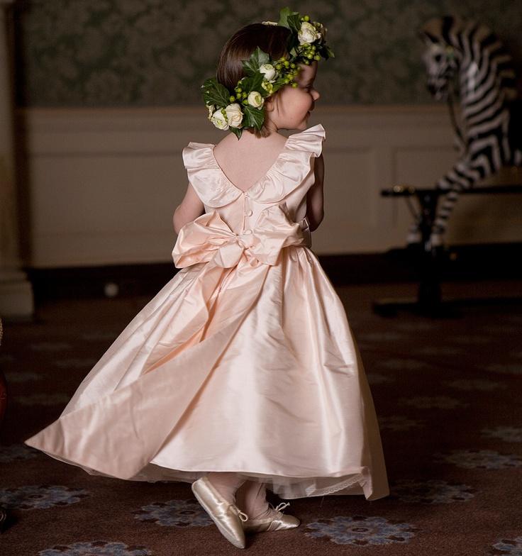 #Peach Flowergirl... Wedding Ideas For Brides, Grooms