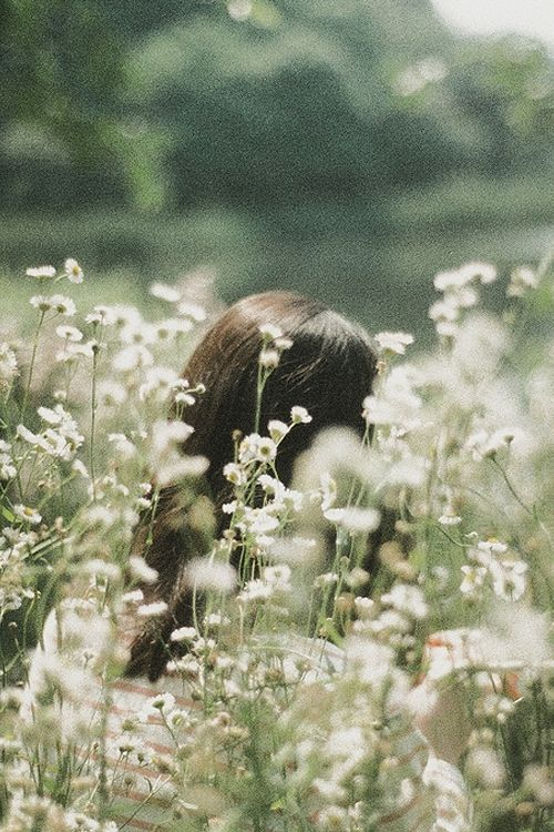 I want to lay in a meadow full of flowers and just think about everything