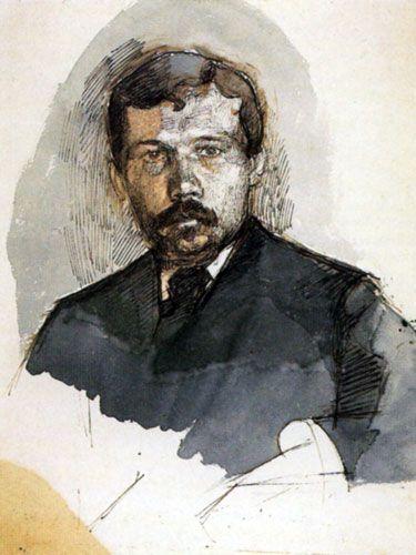 М. А. Врубель Портрет писателя В.Л.Дедлова.1885