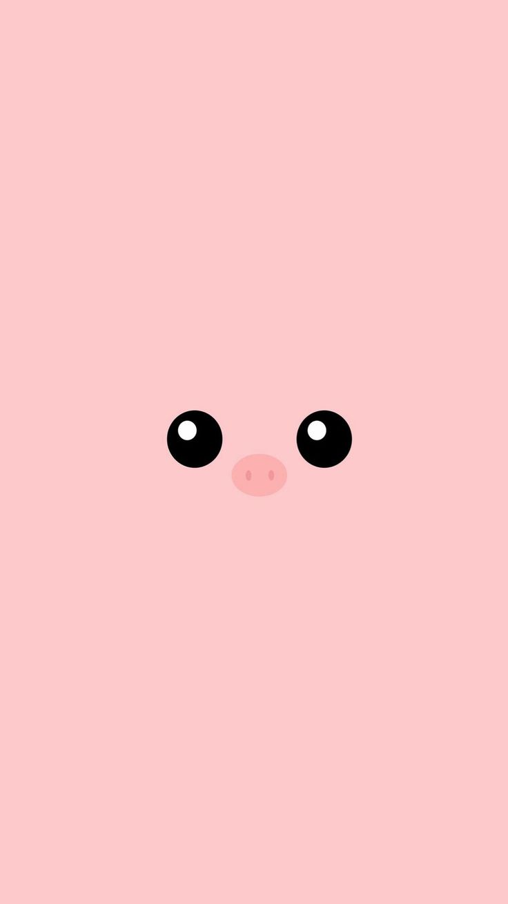 Minimal Pink Piggy Cute Eyes iPhone 6+ HD Wallpaper - http://freebestpicture.com/minimal-pink-piggy-cute-eyes-iphone-6-hd-wallpaper/