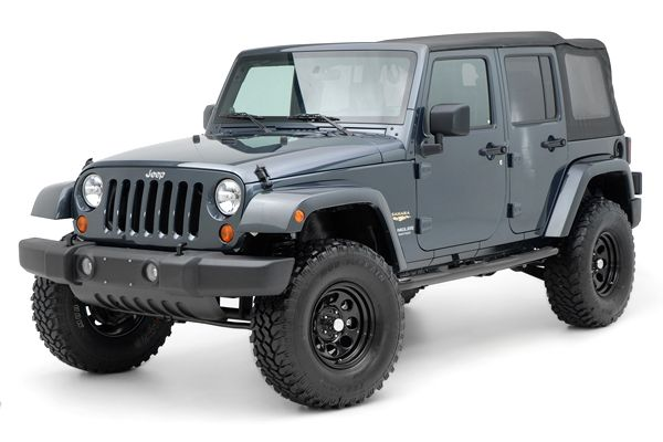 Four door Jeep Wrangler in slate blue