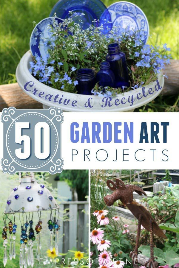 50 Creative Recycled Garden Art Projects Recycled Garden Art