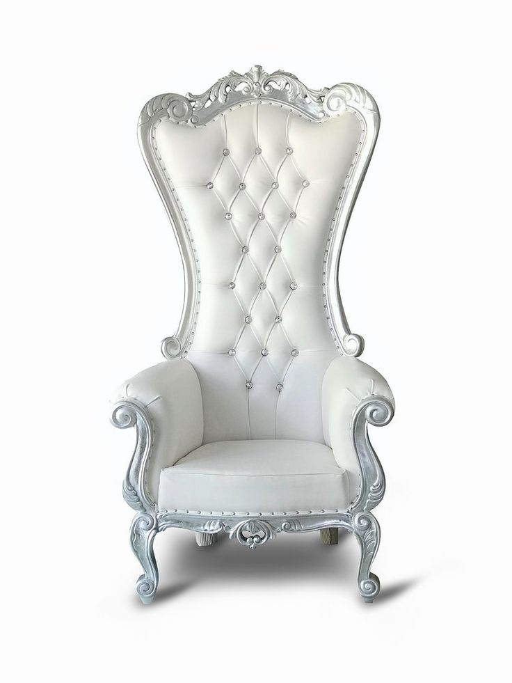Chiseled Perfections Silver/White Isabella throne
