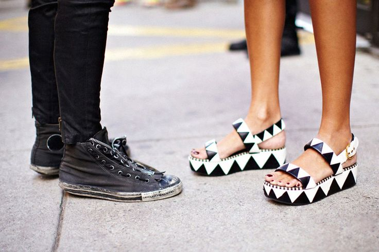 NGFW Day 5: Graphics Shoes, Graphics Art, Art Platform, Fashion Week, Street Style, Black White, Platform Shoes, Girls Shoes, Blackanwhit Shoes
