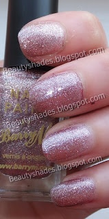 New Barry M  Pink Silver Glitter: 337  Nail paint swatch