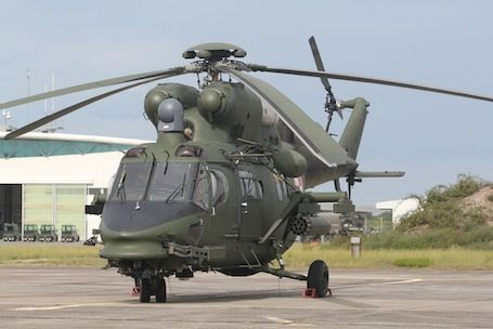 Polish Air Force light attack helicopter PZL-Swidnik SA (AugustaWestland collaboration) W-3PL armed version of their light utility helicopter, is of similar size to the Sud Aviation (now part of EADS/Airbus Military/Eurocopter grouping) or Westland built Pumas.