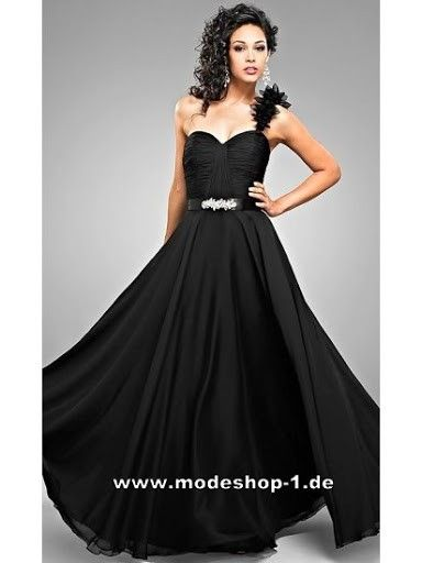 Abendkleid King George Island in Schwarz