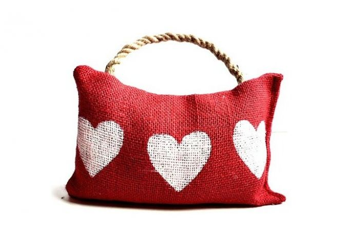 Hessian Heart Doorstop by Little Trading Co. on hellopretty.co.za