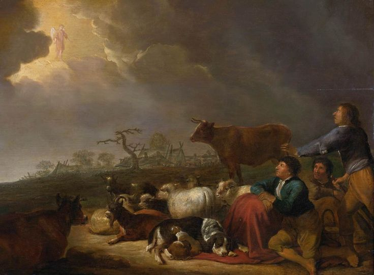 Cornelis Saftleven, Annunciation to the Shepherds (1630)