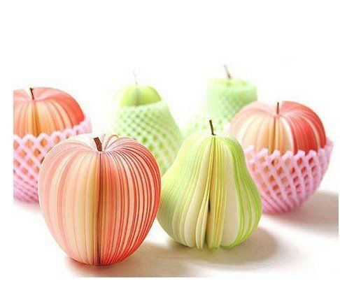 Free shipping!!Hot sale!Wholesale,New Creative Fruits Notepad/ Memo Pad/Note pads Memo/Memo Pads/Writing scratch pad/