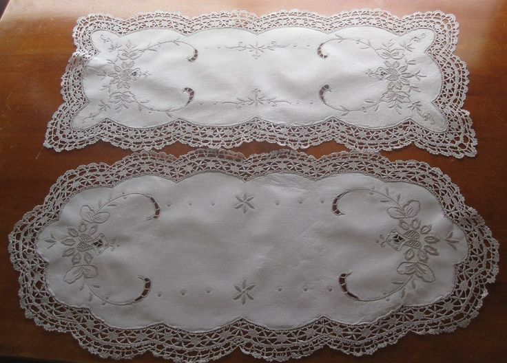 Two Vintage Hand Embroidered Table Runners in Antiques, Textiles, Linens, Lace, Crochet, Doilies | eBay SELLER ID: kathy_a1