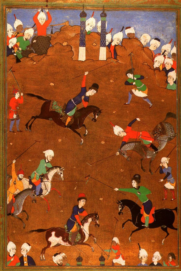 Polo Game From the Sarai Albums. Tabriz, middle of 16th century. Hazine 2161, folio 4a
