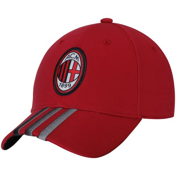AC Milan adidas 3S Adjustable Cap - Red - $24.99