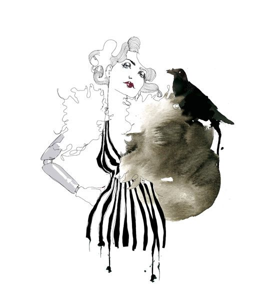 I love her very retro looking, vintage inspired fashion illustrations.