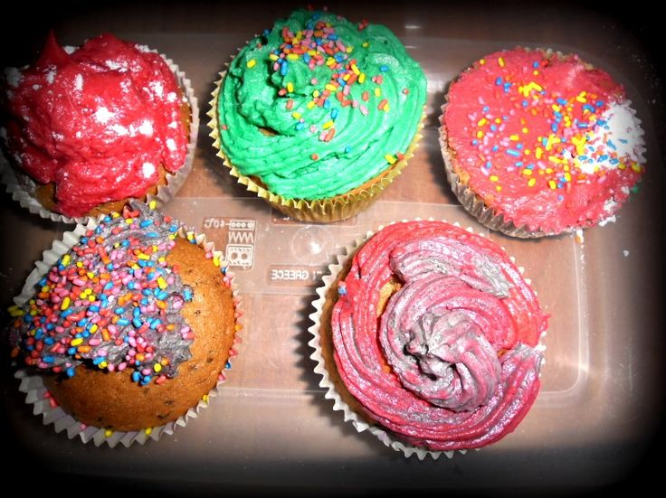 my first cup cakes