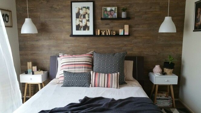 Tribal styling in our master bedroom