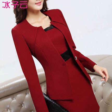 wholesale Women's autumn and winter wear suit Slim OL ladies dress suit beauty salons|244d5018-2215-43c5-9276-638b609fe546|Dress Suits
