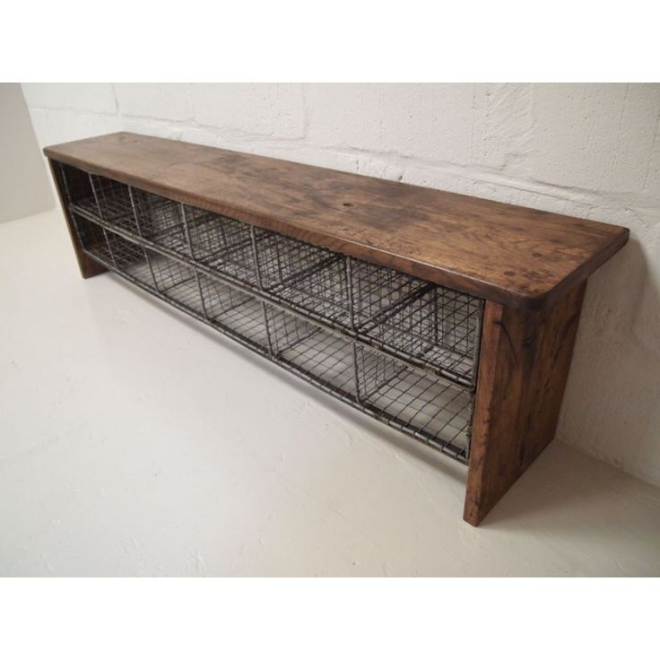 Vintage school locker room bench