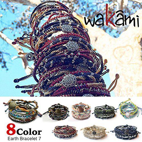 Wakami ワカミ ブレスレット Earth Bracelet 7 アンクレット メンズ レディース ペア ビーズ パーツ アクセサリー ロンハーマン Ron Herman 取扱ブランド