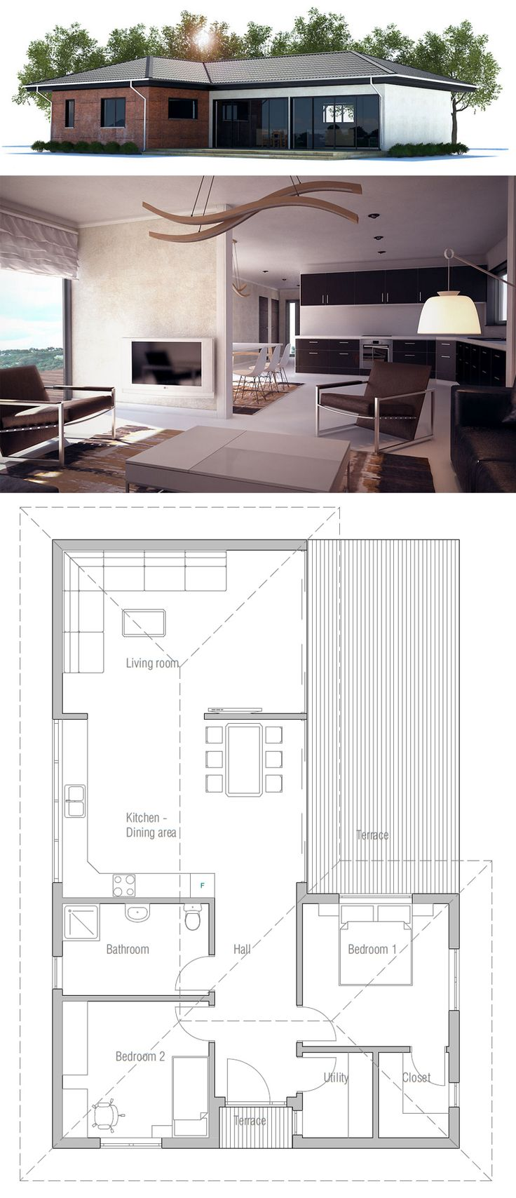 Small House Plan #singlestoreyhomeplans